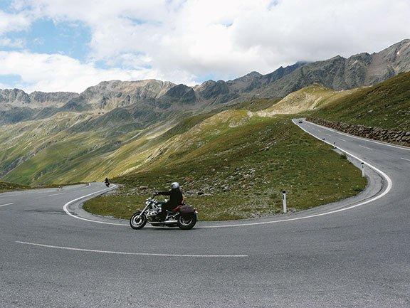 Motorradfahren im Ötztal